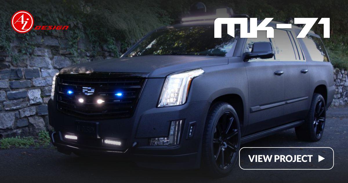 Cadillac Escalade Black Mirror Outline Finish Lazer Tag Acrylic License Plate